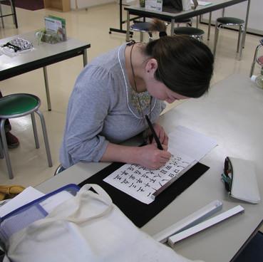筆ペン教室様子3