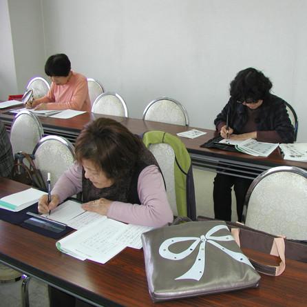 筆ペン教室様子10