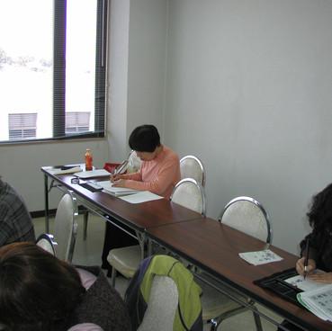 筆ペン教室様子9