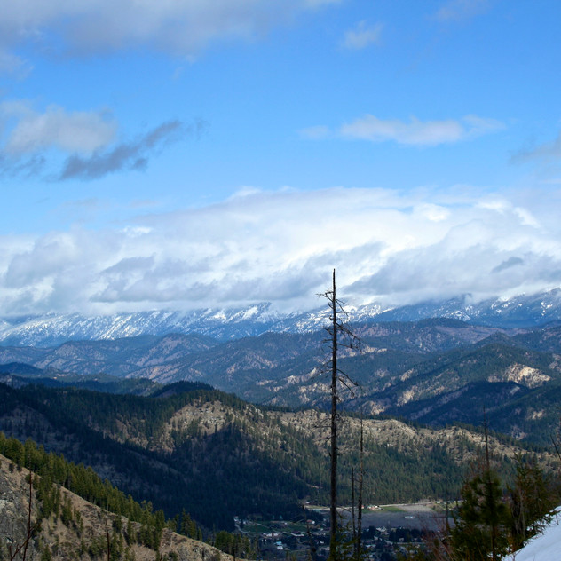 View from the top of Icicle Ridge