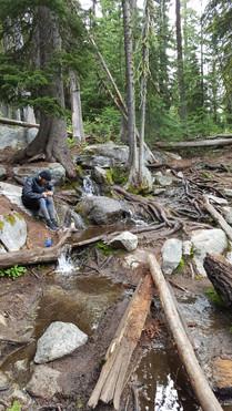 Enchantments Wilderness - Filtration Station near Colchuk Lake