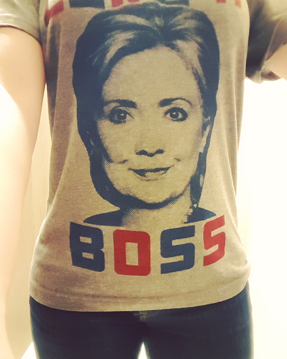 Like a Boss shirt with Hillary's face