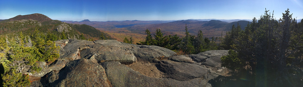 Looking southeast from the west peak of Tumbledown Mountain