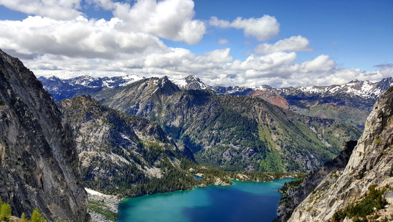 Enchantments Wilderness - View of Colchuk Lake From Halfway Up Aasgard Pass