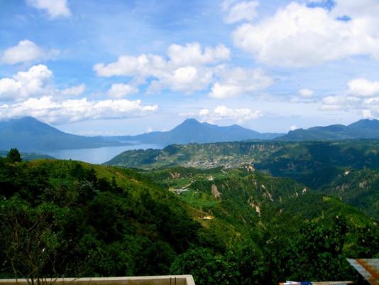 Biking to Lago Atitlan