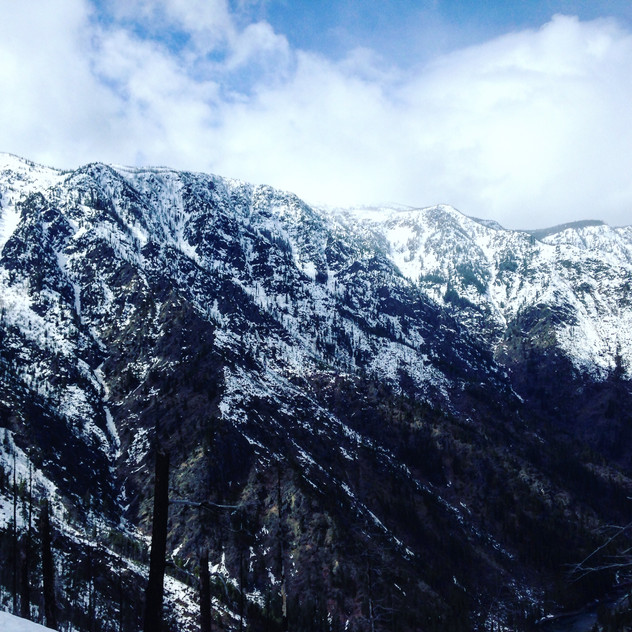 On the way up Icicle Ridge