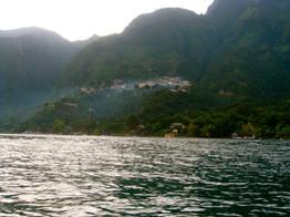 Boat ride views across Lago Atitlan