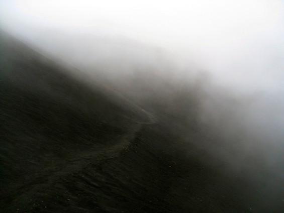 Hiking up Volcan Pacaya