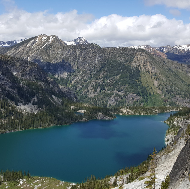 Colchuk Lake from Halfway up Aasgard