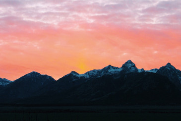 Grand Teton National Park - Sunset over the Mountains