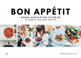 FOOD BLOGGER FILTERS. 10 Mobile & Desktop Lightroom Presets. Food Photography Presets.