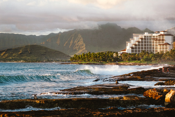 Four Seasons Hotel at sunset time