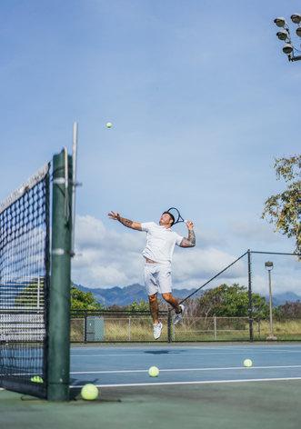 Tennis player in Hawaii