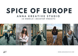 EUROPEAN TRAVEL PRESETS. Architecture, Food and Fashion. 10 Lightroom Presets, Mobile & Desktop.