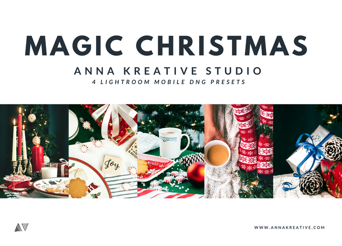 MAGIC CHRISTMAS PRESETS, Lightroom Preset mobile, Festive Presets, Xmas Edition Filter, Filters for Insta, Lightroom Presets for Instagram