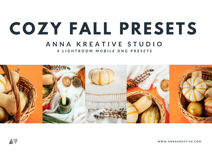 COZY & WARM AUTUMN Mobile Lightroom Presets, Halloween Fall Golden Autumn 4 Filters for mobile
