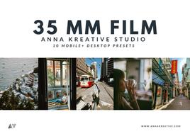 35 MM FILM PRESETS, 10 Lightroom Presets, Mobile & Desktop, Vintage and Analog Film Effects.
