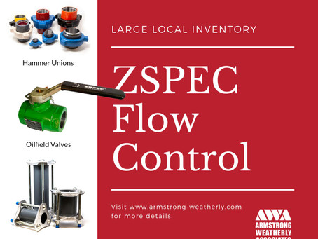 Armstrong/Weatherly proud to carry ZSPEC Flow Control Products