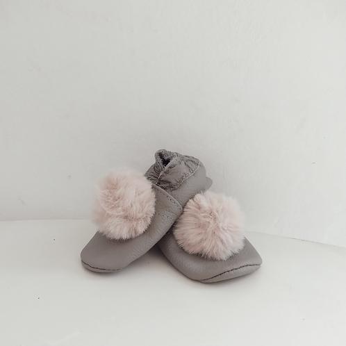 Zapatitos Pompom: Grey