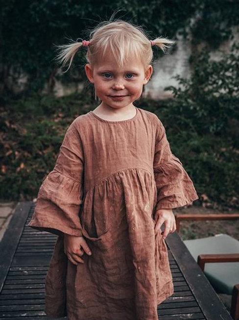 Vestido de lino Sage