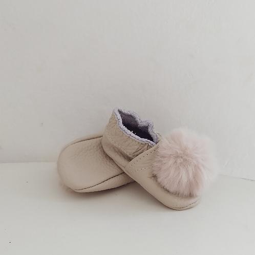 Zapatitos Pompom: Nieve