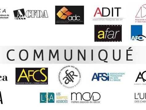 Communiqué des associations professionnelles // négociations salariales  production audiovisuelle