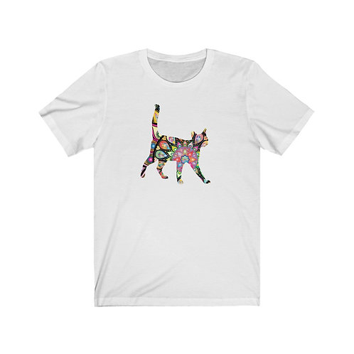 Stained Glass Kitten -  Jersey Short Sleeve Tee