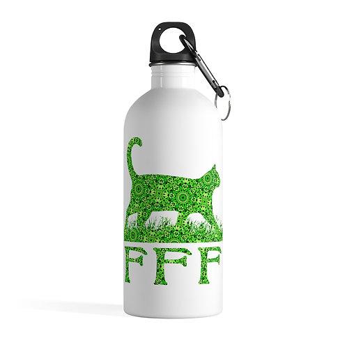 FFF Logo -Spring Green - Stainless Steel Water Bottle