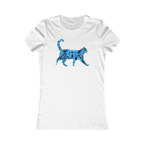 Delft Blue Cat - Women's Favorite Tee