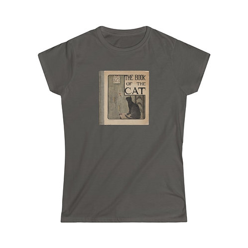 Vintage Book Cover - The Book of the Cat - Women's Softstyle Tee