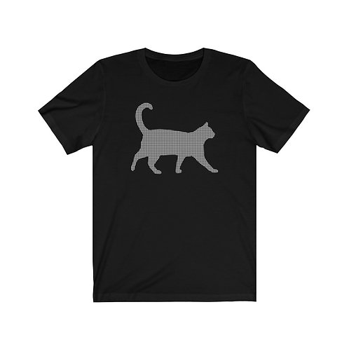 Houndstooth Cat - Unisex Jersey Short Sleeve Tee