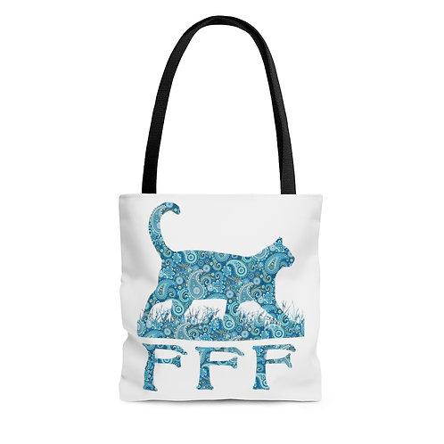 FFF Tote Bag - Blue Paisley