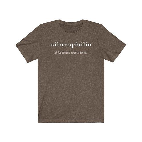 ailurophilia definition - Unisex Jersey Short Sleeve Tee