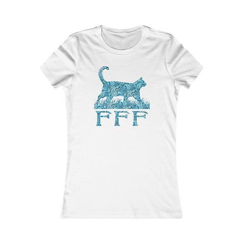 FFF Logo Blue Paisley Women's Favorite Tee