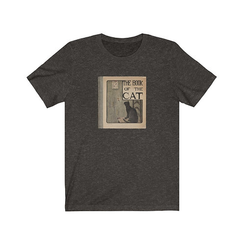"Vintage Book cover ""The Book of the Cat"" - Unisex Jersey Short Sleeve Tee"