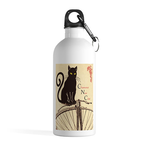 Chanceaux Noir Chat Stainless Steel Water Bottle