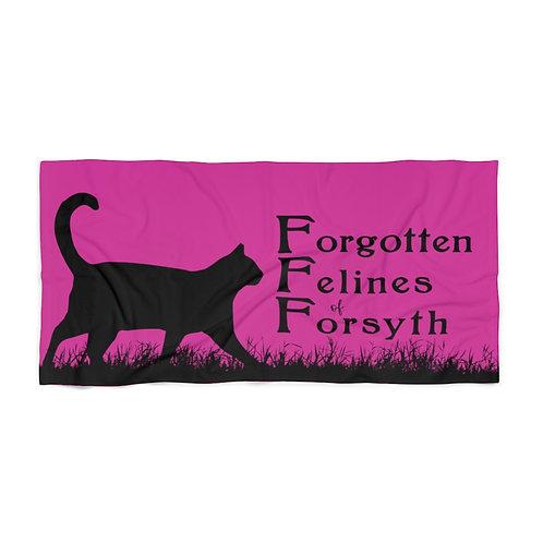 Forgotten Felines of Forsyth - Beach Towel - Pink