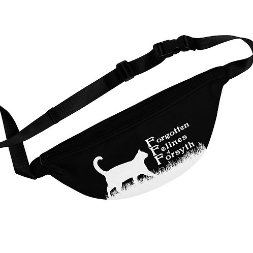 Black with White Logo Fanny Pack