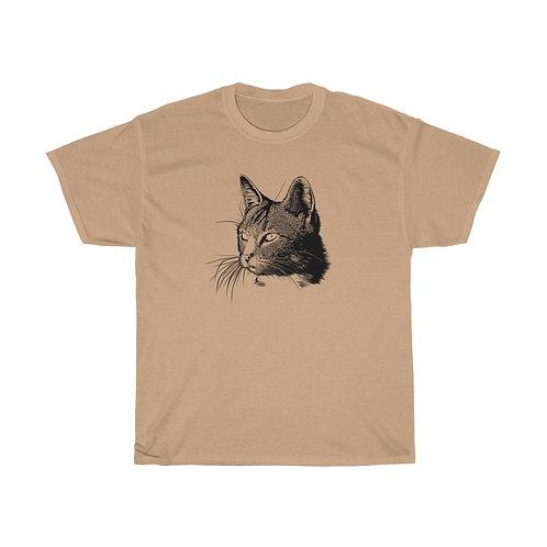 Cat Sketch - Unisex Heavy Cotton Tee