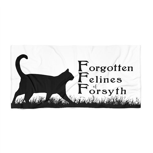 Forgotten Felines of Forsyth - Beach Towel - White