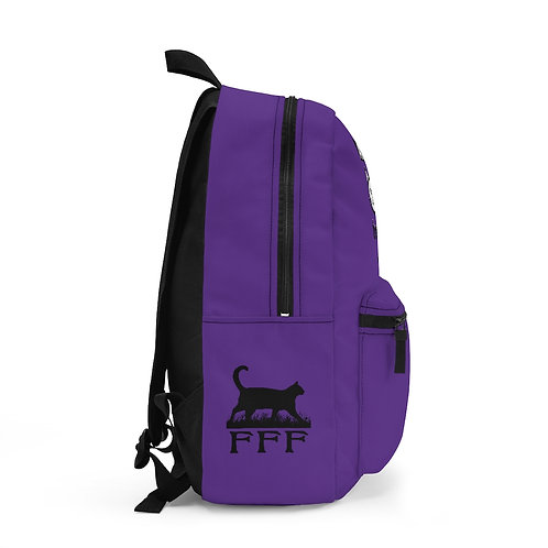 """Purple """"Ask me about TNR"""" Backpack (Made in USA)"""