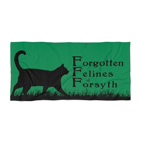 Forgotten Felines of Forsyth - Beach Towel - Green