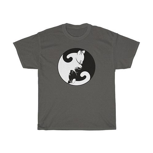 Yin Yang Kittens - Unisex Heavy Cotton Tee