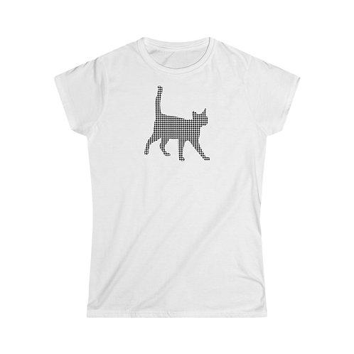 Houndstooth Kitten - Women's Softstyle Tee