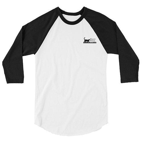 FFF Logo - 3/4 sleeve raglan shirt (Printful)