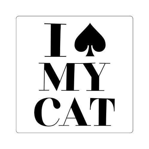 I Spade MY CAT Stickers