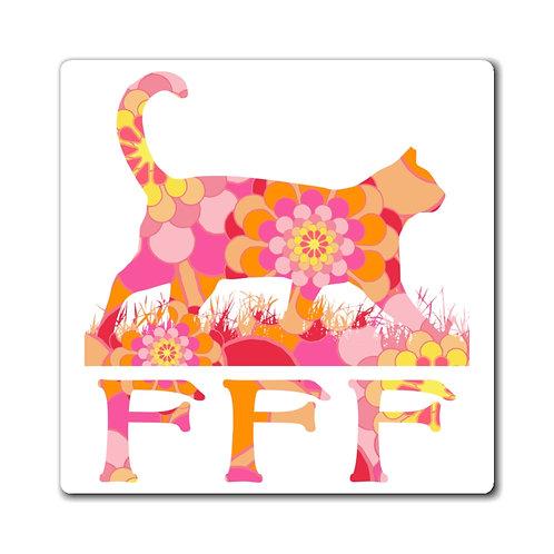 FFF Logo Magnet - Orange Floral