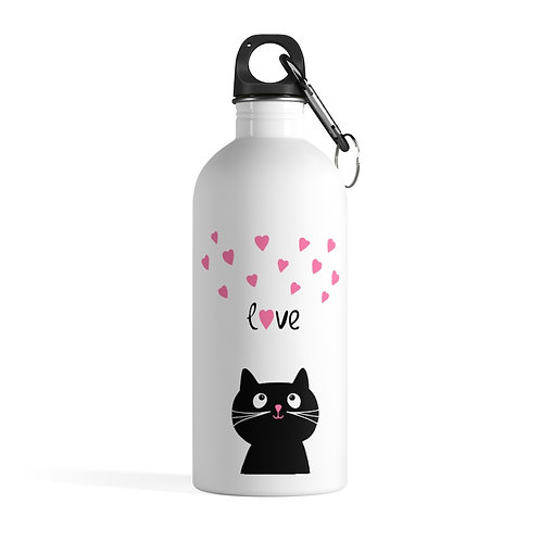 Kitty Love Stainless Steel Water Bottle