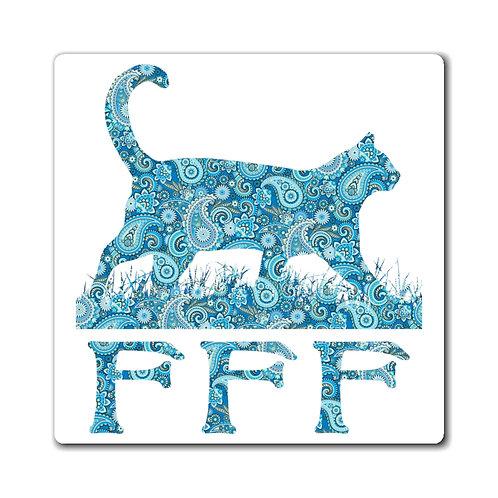 FFF Logo Magnet - Blue Paisley