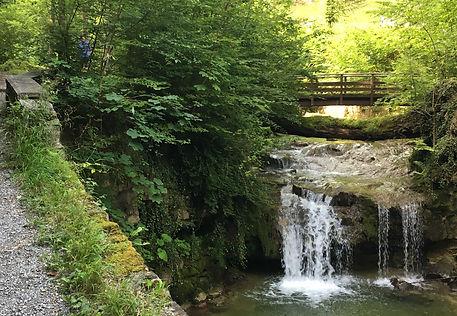 Joggingroute Zürich Pfadiweg Wasserfall Bach Wasser Fluss Wald joggen